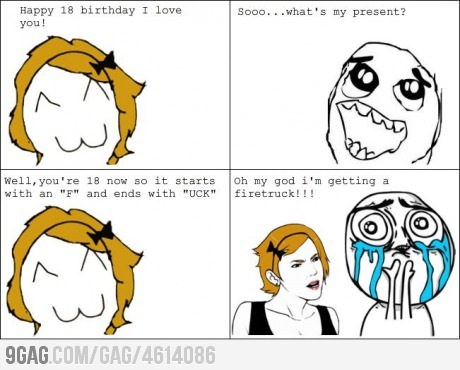 9gag:  Best present ever
