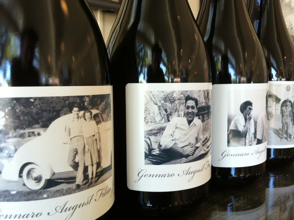 {90 Candles} A collection of four private label wines designed in our Drinkwell Creative Design Lab to celebrate a 90th Birthday. One photo style label capturing four unique periods along timeline of his life. Client Requests: Simple, Elegant, Minimal Text, Vintage Feel, Photo Focus Wine: 2009 Red Rhone Blend 65% Syrah, 15% Grenache & 20% Viognier