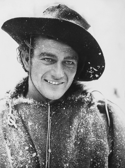 steamboatbilljr:  John Wayne on the set of The Big Trail, 1930.