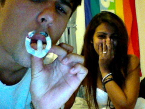look how proud we are :) that joint took like 45 minutes and epic amounts of paper-mache skills to roll. time well spent.