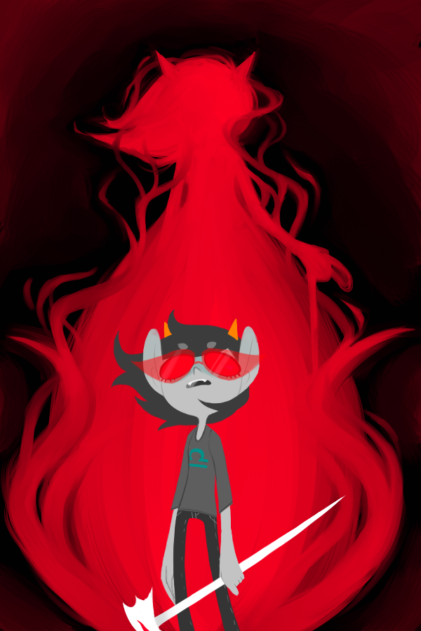 derpitstea:  Wow I finished this picture like the moment Homestuck updated with Terezi being her awesome self. Go me.