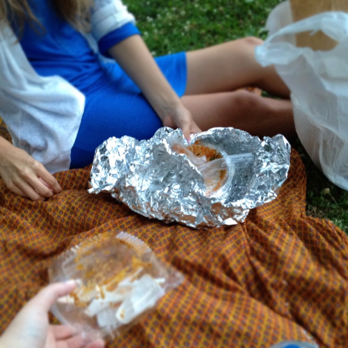 Indian food picnic in West Philly