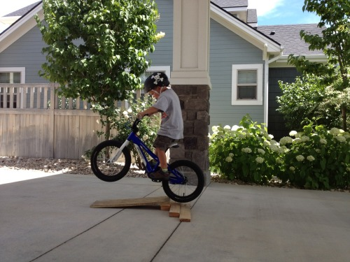 So I got this email:  My bad ass nephew's BMX style. He just turned 5.  That kid is going to turn out just fine.