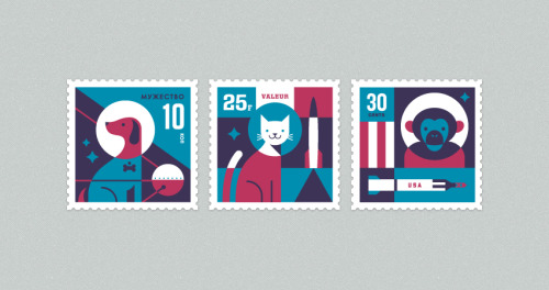 Space Animal Stamp Series (via Eric R. Mortensen)