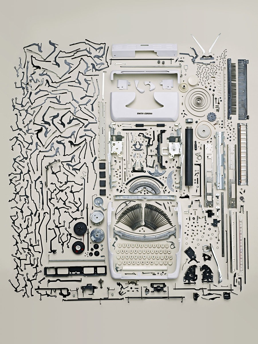 Disassembled smith-corona typewritter.  [via: Todd Mclellan ]