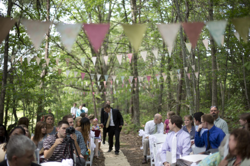 madetoburn:  Our wedding in the woods.  <3 The Mango Pack
