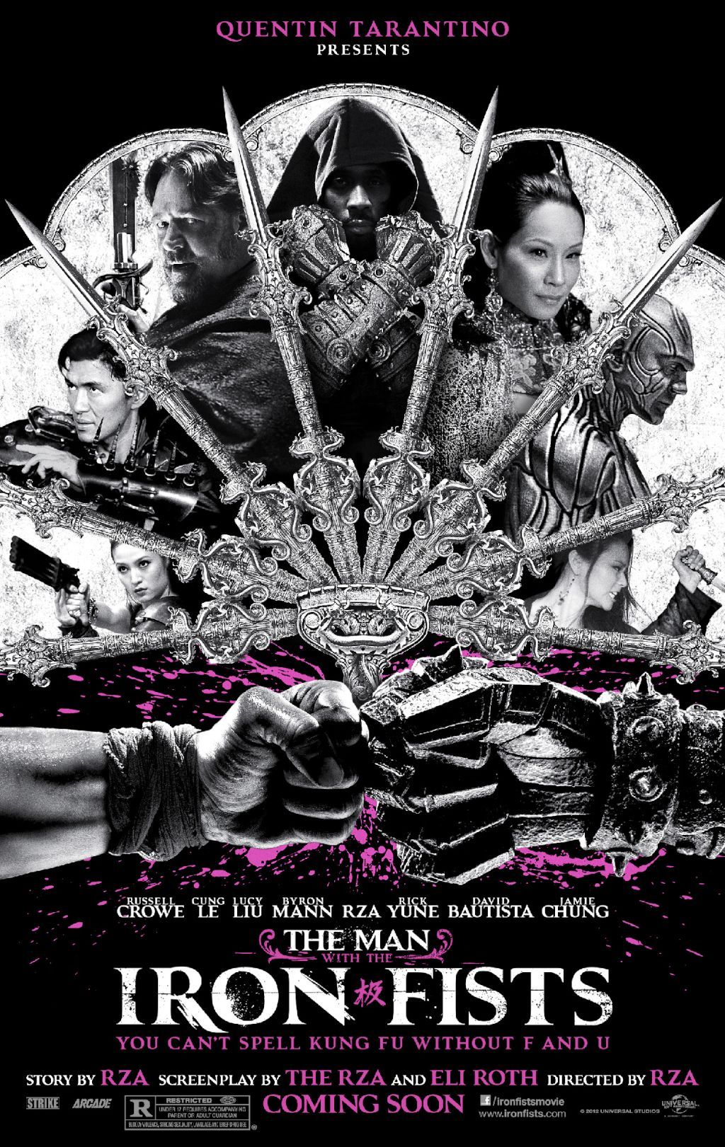 geminisykii:  directorscuts:  The first poster for @RZA's THE MAN WITH THE IRON FISTS!   I'm a sucker for kung fu flicks.  real niggas say word… word.