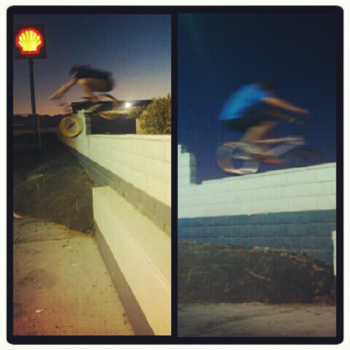 Me jumping in, @dustin_t_orem jumpin out!! #gasstationspots  (Taken with Instagram)