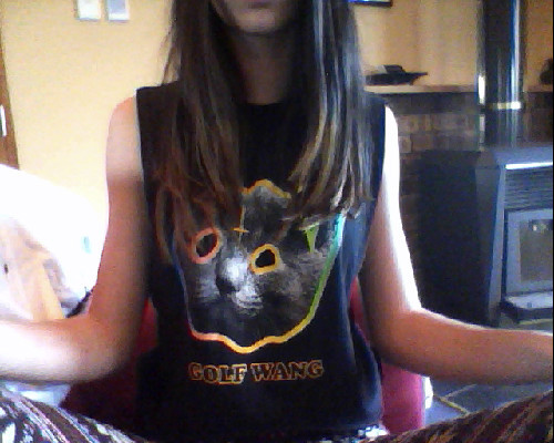 yes i am reblogging a picture of myself because it is a good top don't hate. golf wang.