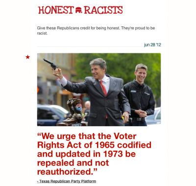 "Check out our sister site, ""Honest Racists."" Stop the PC, if you're a racist, be honest. Visit Honest Racists."