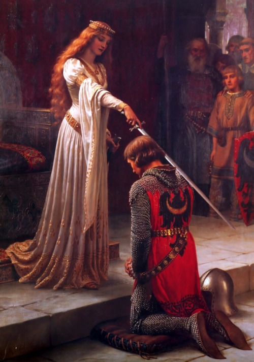 "yggn:  ""The Accolade"" 1901 By Edmund Blair Leighton"