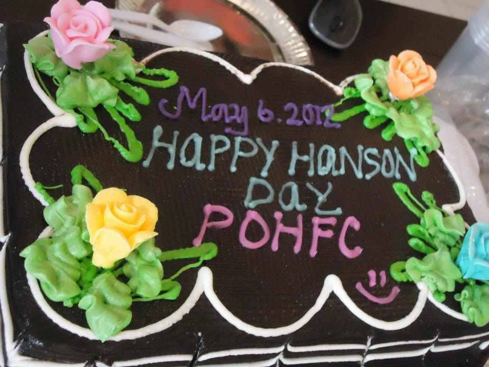 philippineofficialhansonfc:  Hanson Day celebration of Philippine Official Hanson fans club, May 6, 2012 was chosen by Hanson as their FAVORITE in picture 3 of 365 on facebook.