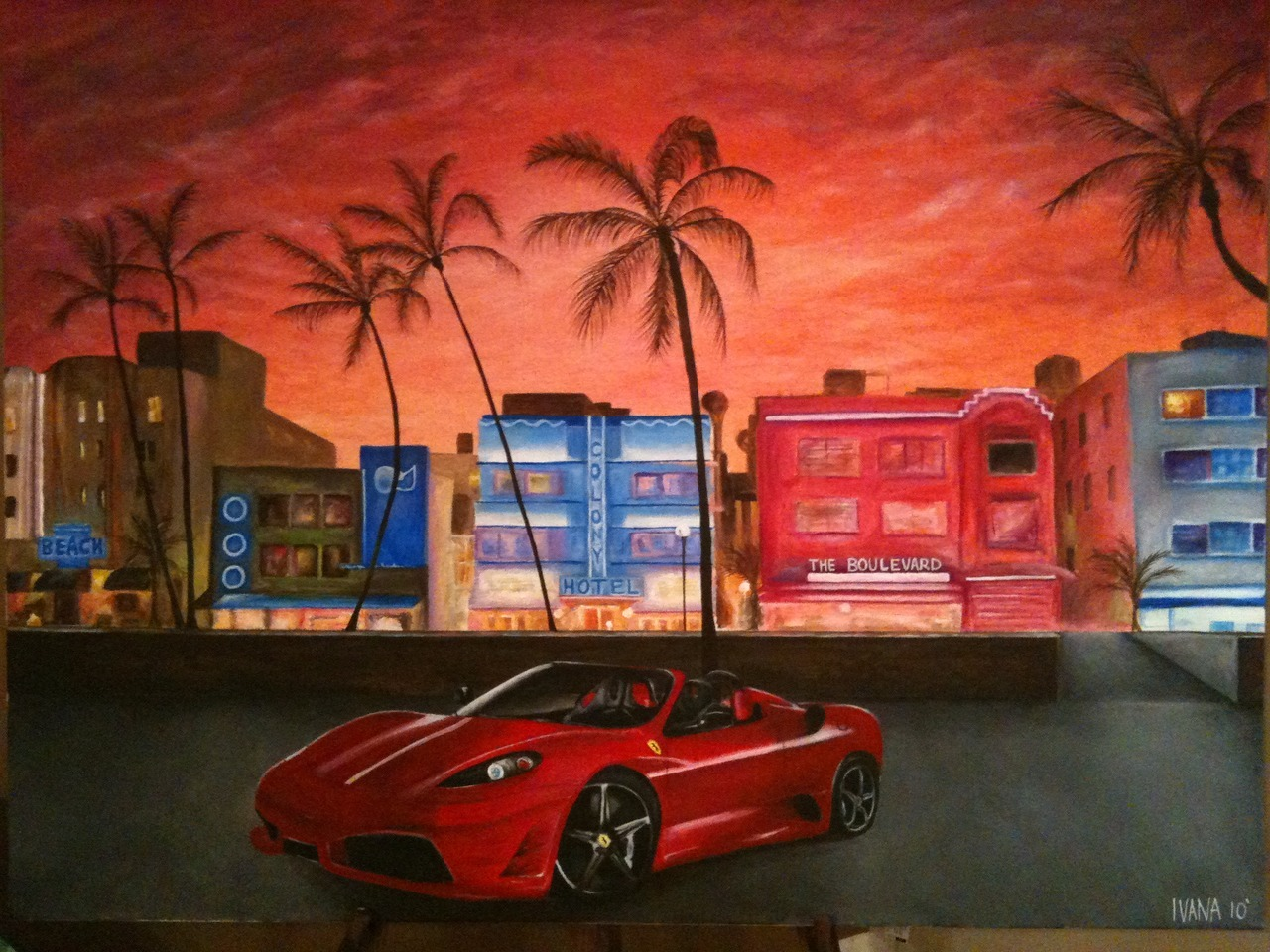 [Red Devil in Miami] Acrylic on Canvas / 120x90 / 2010 my pride and joy…