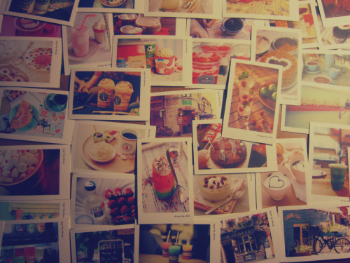 "16thnovember:  jusuya:  My lovely postcard ~.~ Bea"" tea""full ;))"