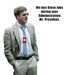 Steve Jobs = at least one lost job. Courtesy of Whisp