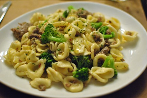 todayrecipes:   sausage and broccoli