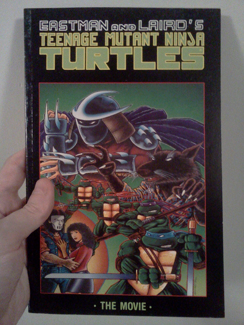 Teenage Mutant Ninja Turtles: The Movie, Mirage Studios, 1990 This is the comic book adaptation of the first Ninja Turtles movie, from way back in 1990.  This is actually not a bad Turtles primer comic, as it introduces us to all the characters and their world, as I guess the movie did.  And since it is from Mirage publishing, as opposed to Archie Comics, it is all done in the original Eastman and Laird style.  It is black n' white, gritty, and fun too.