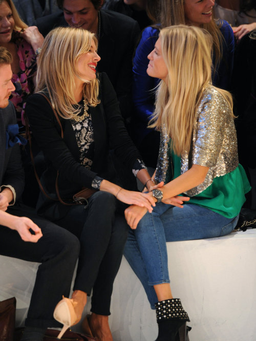 celebinspire:  Sienna Miller and Poppy Delevigne