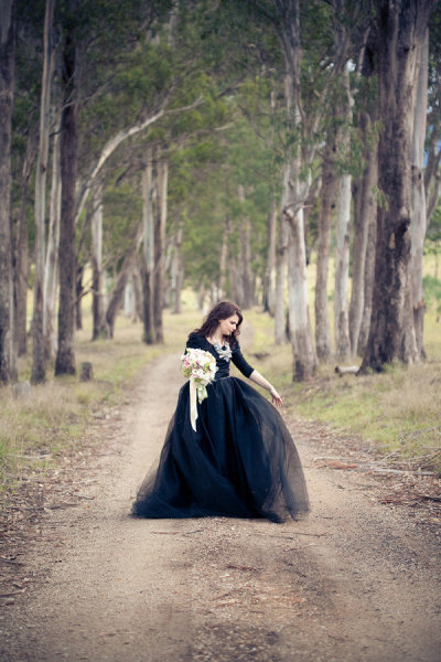 fuckyeahweddingideas:  There's something about black dresses that I just love!