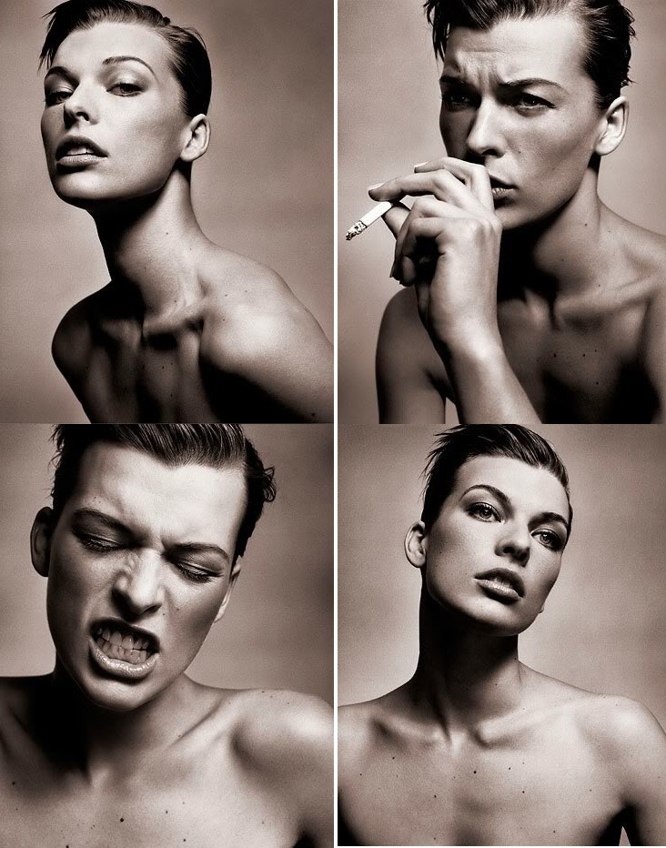 Milla Jovovich photographed by Vincent Peters in 2002