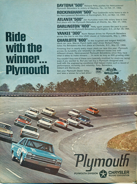 1966 Plymouth Satellite Richard Petty Race Car  by coconv on Flickr.1966 Plymouth Satellite Richard Petty Race Car