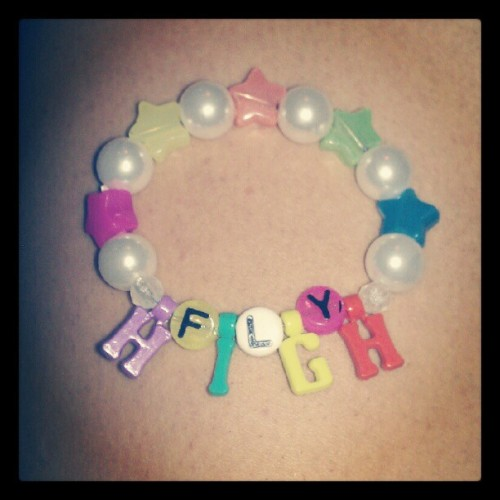 Kandi making tiiiiime. #FlyHigh (Taken with Instagram)