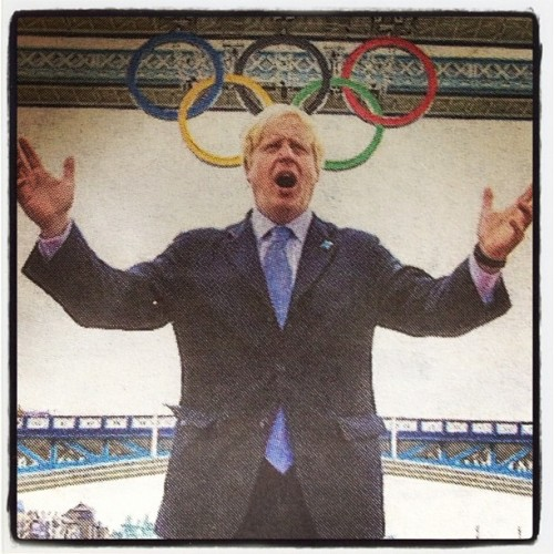 Do you think Boris's new Olympics fascinator range will catch on? (Taken with Instagram)