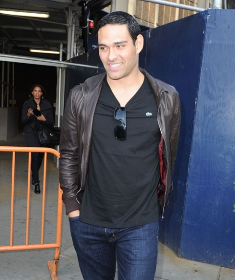Mark Sanchez leaving the Knicks game