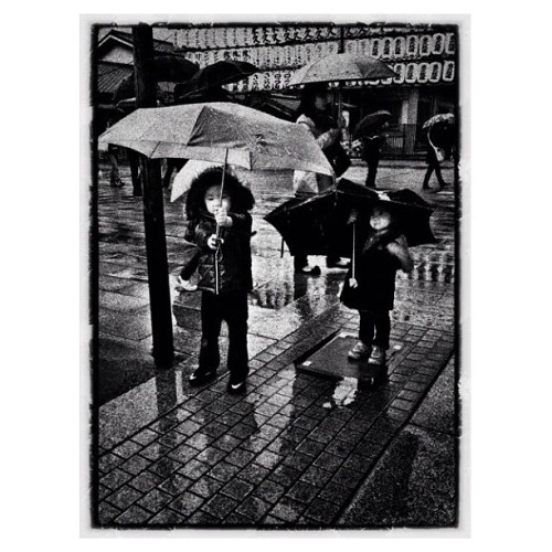 Rain Drops Keep Falling on My Head  #japan #japantrip #kids #rain #umbrella #farafaya  (Taken with Instagram)