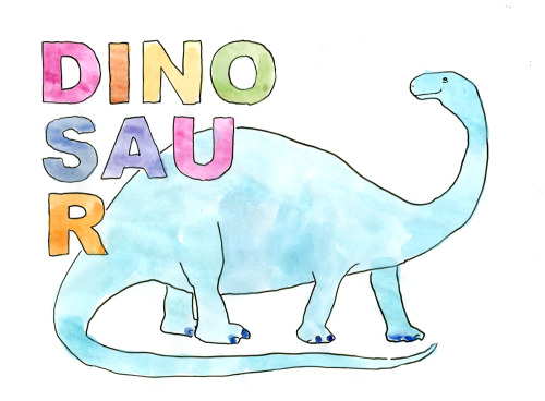 dallasclayton:  Maybe you need a reason for a watercolor dinosaur, but I don't.