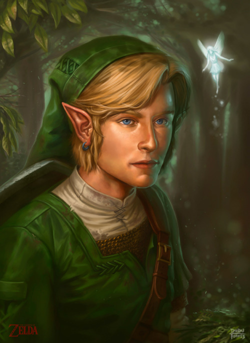 ianbrooks:  The Legend of Zelda Portraits by Dudu Torres You know what my favorite thing is about the Zelda series? TRICK QUESTION, I like everything about it. Count hyper-realistic artistic portraits as one more. And this is just the beginning: Dudu plans on doing a portrait for all of the Sages from Ocarina, beginning with Darunia above. Check out the work in progress shots below (zelda treasure noise~!):      Artist: blog / facebook