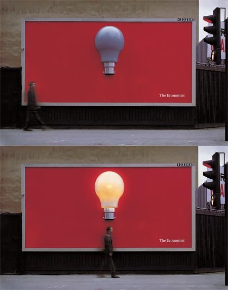 Motion sensor billboard