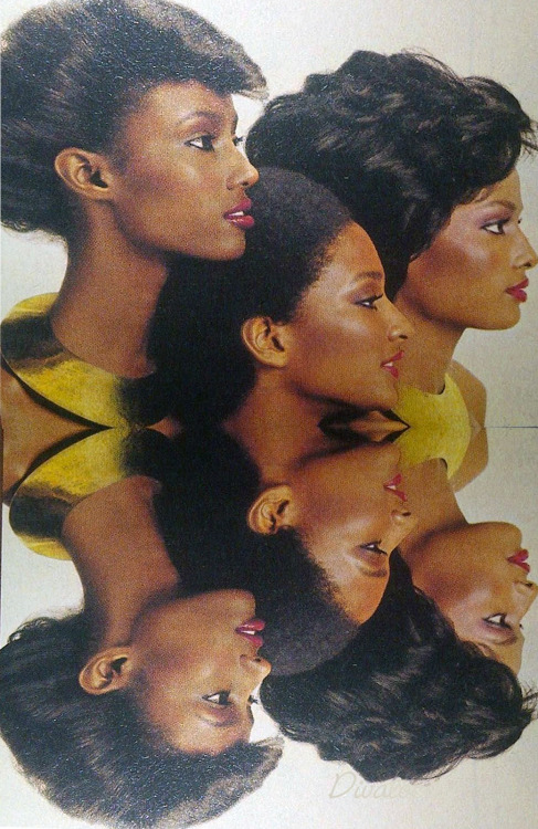 lustnspace:  Revlon's Polished Ambers Advertisement, circa 1978, featuring Iman, Peggy Dillard-Toone and Gail Kendrick.