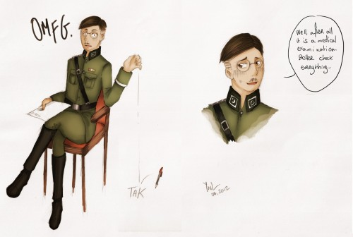 schwarzzitronen:  This was Himmler's reaction to the previous picture. xD  Don't be shy Herr Himmler! lol