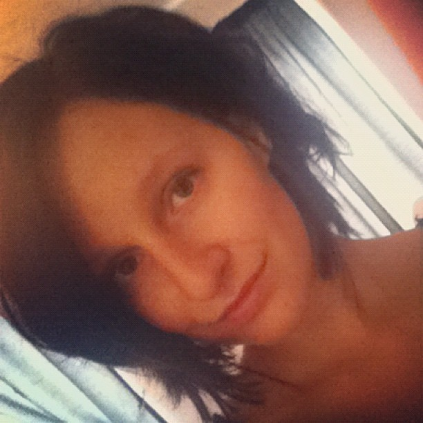 Good morning!  #justwokeup #goodmorning #girl #natural (Taken with Instagram)