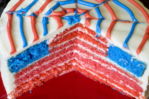 American Flag Cake recipe from With Sprinkles On Top.