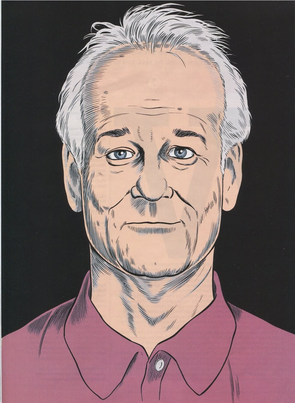 Bill Murray by Daniel Clowes.