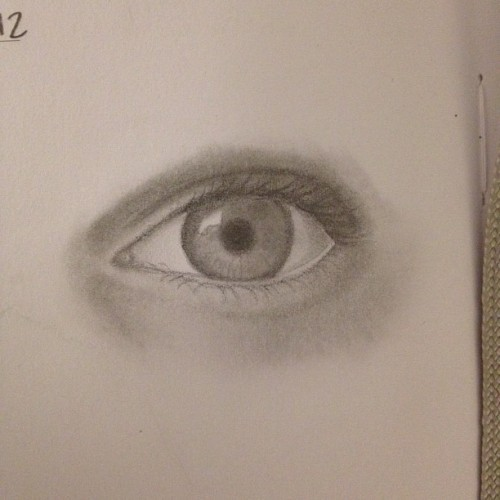 Best lookin eye I've drawn in quite a while (Taken with Instagram)