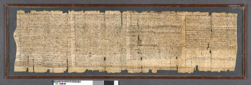 ancientpeoples:  The London Magical Papyrus Found at Thebes 3rd Century AD Roman Period P Leiden/London, recto cols. 4-7, verso cols. Papyrus written with black ink; demotic text recto and verso: spells and recipes; Old Coptic glosses and Greek recitation. On the recto are a series of spells and recipes arranged in twenty-nine columns written between ruled lines. These include spells for divination, love spells, poisons and spells of healing. On the verso are apparently discontinuous memoranda, prescriptions and short invocations. Column 4 contains a spell for a revelation, including a recitation written in Greek that is to be read in the opposite direction to the demotic. This is followed by two further spells for visions. Column 5 contains a spell for 'a tested god's arrival', that is, for a vision in a dream. There follows a recitation in which the magician identifies himself with various magical names. The remainder of the spells in this section of the papyrus is another 'inquiry of the lamp'.