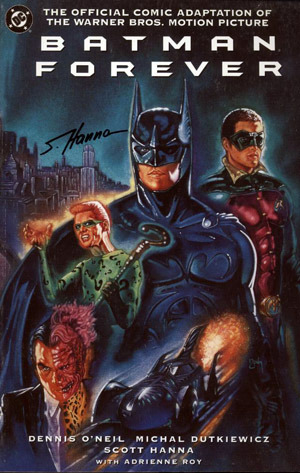 starscream-and-hutch:  Whoa. Batman Forever is deeper than I thought. Four authors for the paperback? The Matrix had two writers so by the transitive property Batman Forever is twice as deep.