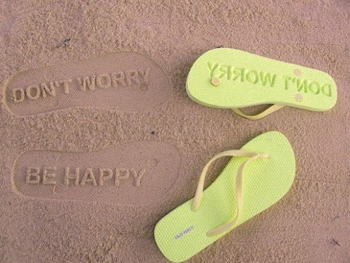 WENAG #49: Don't worry, be happy - Strandlatschen. Design-Idee des Tages. via Claudia Brunen - Google