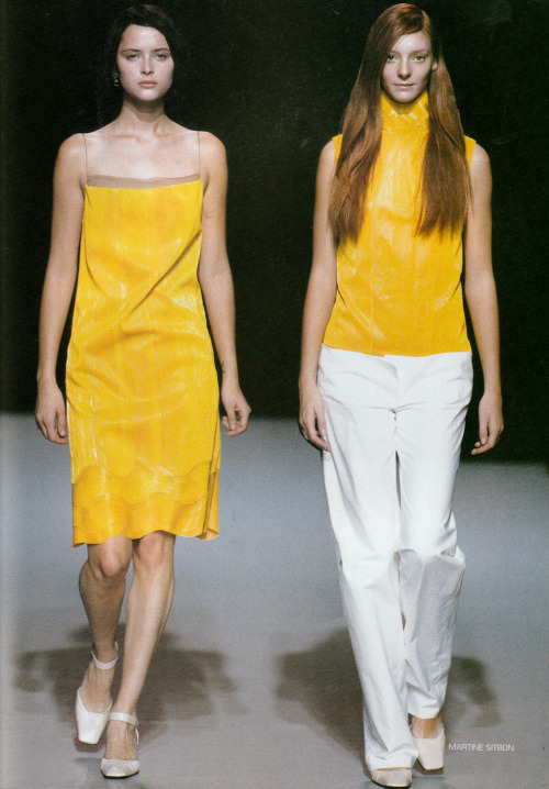 arextav:  Scan from MODA IN N*109 Martine Sitbon Spring / Summer 1999   Loooved Martine Sitbon's work in the 90's…so hard to find images of it at all…