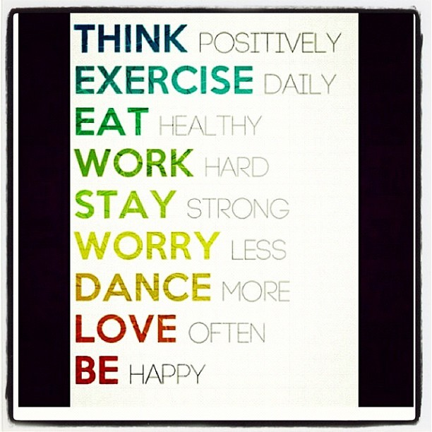 #think #exercise #Eat #work #hard #stat #strong #worry #less #dance #forever #love #yolo #life #your #life #be #happy #sexy #swag #summer  (Taken with Instagram)
