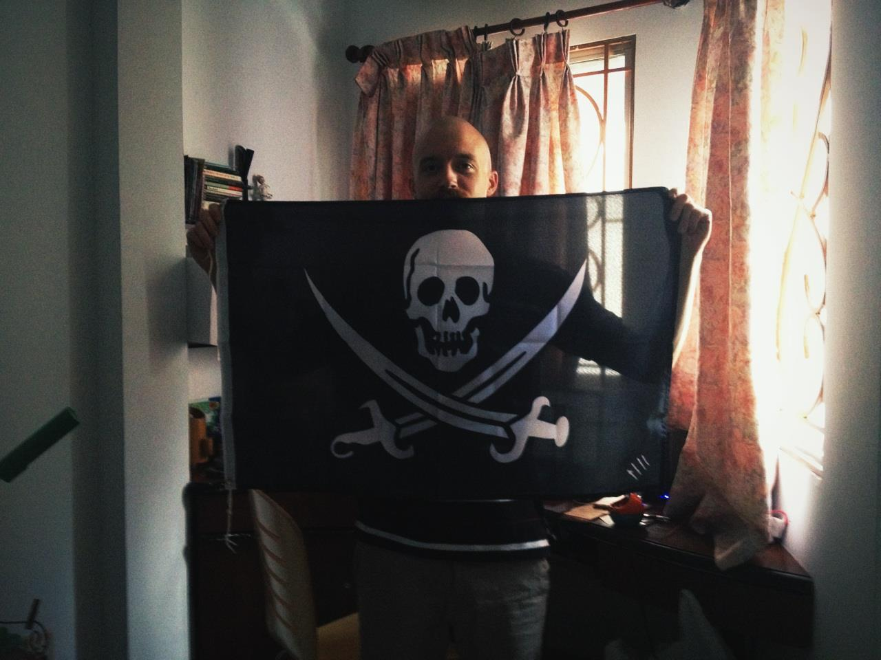[Occupied] Saigon, Vietnam by Cap'n Paul Evans #PIRATE   Make your own Flag, visit  http://thepirateflag.tumblr.com