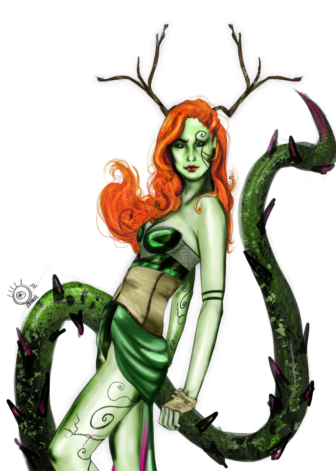 all-about-villains:  Poison Ivy : By ZanEXE / Tumblr Kind of a Mythological Plant Demon/Goddess mixed with a Victory's Secret model. Submitted by:zanexe