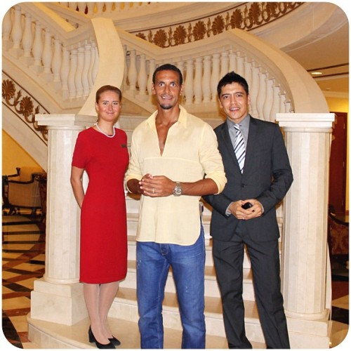 Rio Ferdinand of Manchester United - Celebrity football player at Kempinski Hotel & Residences Palm Jumeirah (Taken with Instagram ) Find out more at www.kempinski.com/palmjumeirah Follow Us:www.facebook.com/KempinskiPalm | www.twitter.com/KempinskiPalm |www.youtube.com/KempinskiPalm