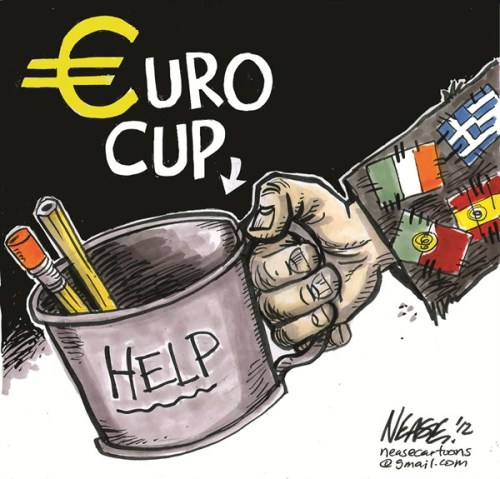 Is #Euro2012 taking away from the #Euro #economic crisis? The PIGS are still in turmoil!