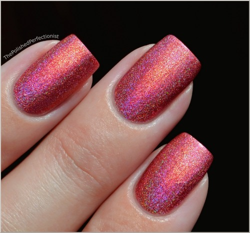 "Pupa ""Holographic Strawberry"" — a bright medium pink with an intense prismatic radiance (via The Polished Perfectionist: Pupa - Holographic Strawberry)"