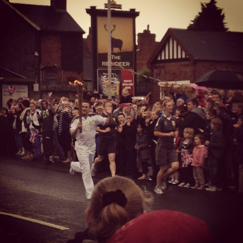 Olympic Torch #olympics #2012 #mansfield #flame (Taken with Instagram)