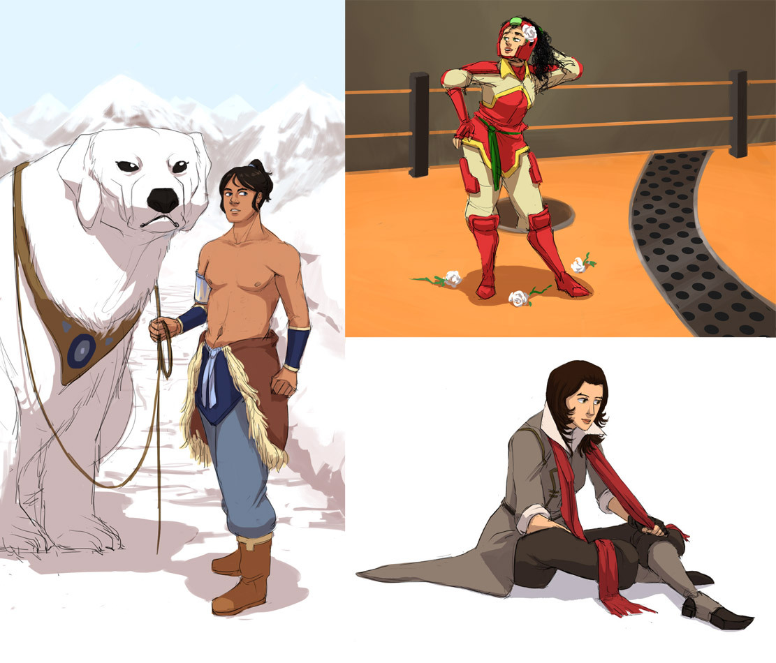 LoK Genderbent by ~It-is-a-circle